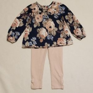 3T floral top outfit